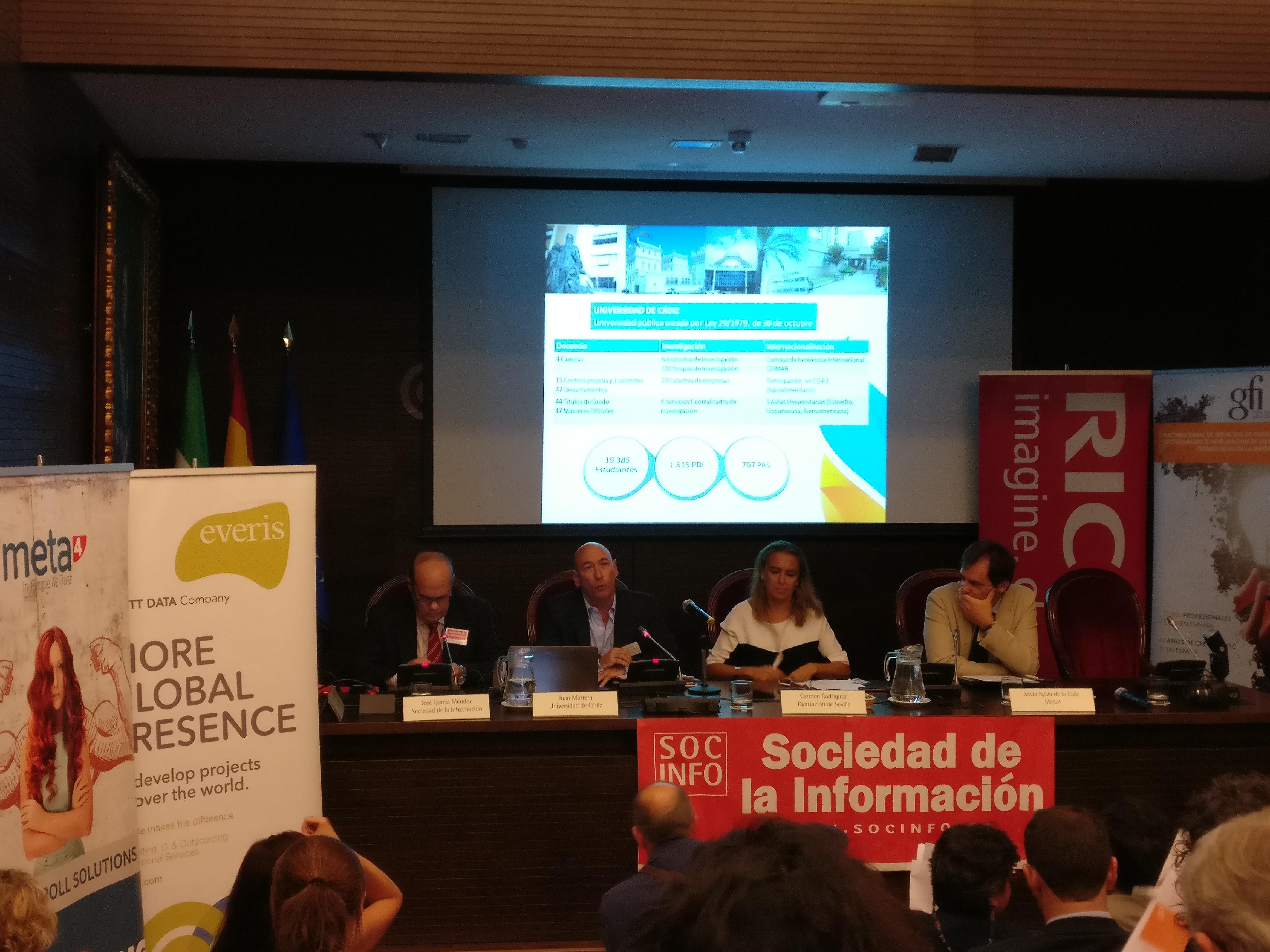 Intervención de Juan Marrero (Jefe del Departamento de Planificación y Contratación de Personal) de la Universidad de Cádiz